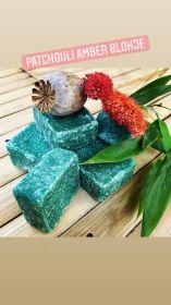 Amber blokje groen Patchouli