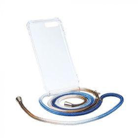 Axento telefoonkoord+hoesje ocean/coffee iPhone 7plus/8plus