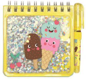 Be Happy Notitieboekje met pen Geel