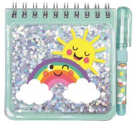 Be Happy Notitieboekje met pen Mint
