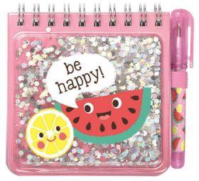 Be Happy Notitieboekje met pen Roze