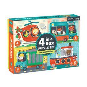 Bertoy 4 in a box Puzzel set Transport