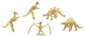 Dino skelet uitgraven