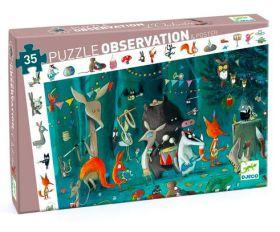 Djeco puzzel Feest in het bos 35 stukjes