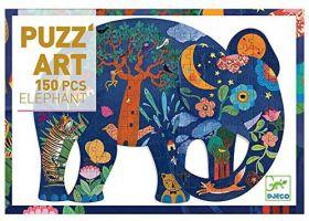 Djeco Puzzel Olifant 150 stukjes