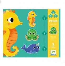 Djeco Puzzel Primo 4-6-9 stukjes