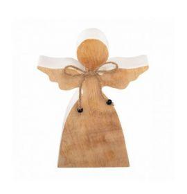 Engel hout wit 18 cm