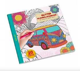 Glitter kleurboek Camper