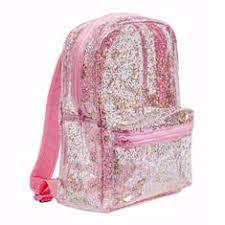 Glitter rugzak roze