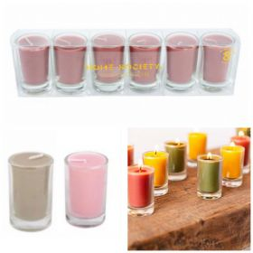 Home Society Votive Candle Set van 6