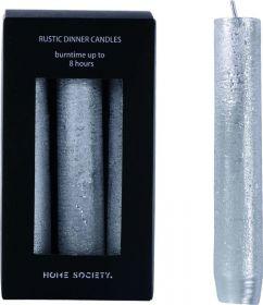 Kaarsen zilver Home society 14 cm