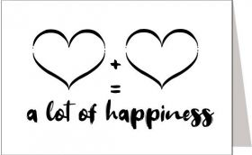 Kaart A lot of happiness