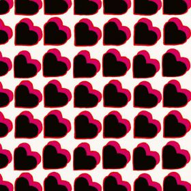 Kaart Fabienne Chapot Hartjes zwart