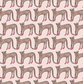 Kaart Fabienne Chapot Leopard Roze