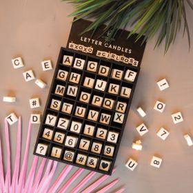 Letter kaarsjes alfabet