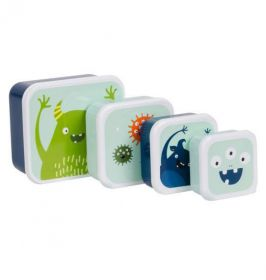 Little lovely Company Lunch & snack box set: Monsters