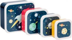 Little lovely Company Lunch & snack box set: Space
