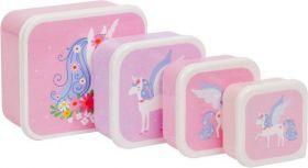 Little lovely Company Lunch & snack box set: Unicorn