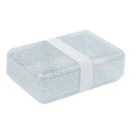 Lunchbox glitter Zilver