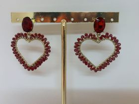 Oorbellen red heart