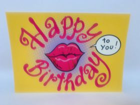 Postkaart Happy birthday Lips