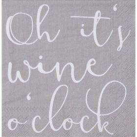 Räder servetten oh it's wine o'clock