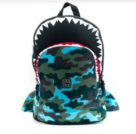 Rugzak Pick & Pack Shark shape Camo M