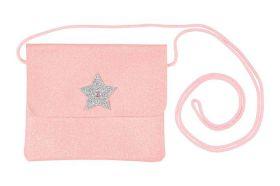 Souza Tas Bapke roze glitter, zilver ster