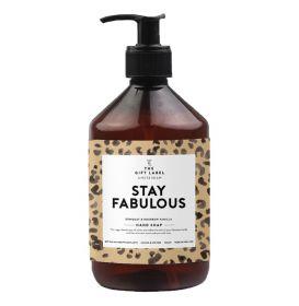 The Gift Label Handzeep Stay Fabulous