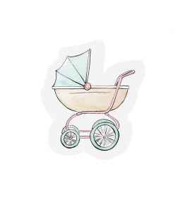 The Gift Label kaart Stroller