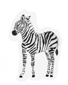 The Gift Label kaart Zebra