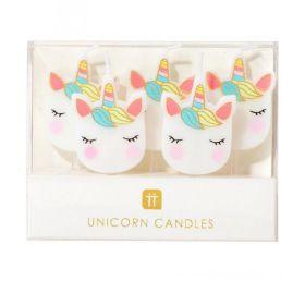 Unicorn kaarsjes 5 stuks