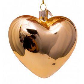 Vondels kerst decoratie Hart goud