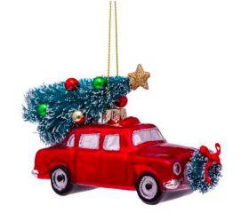 Vondels kerst decoratie Red Car Christmas Tree