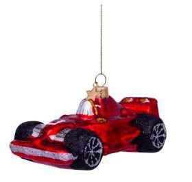Vondels kerst decoratie Red Racing Car