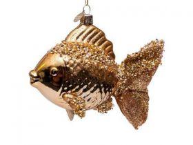 Vondels Kerst decoratie Vis goud