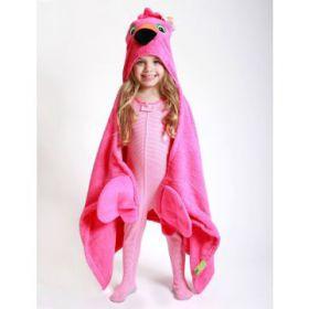 Zoocchini kids badcape FLamingo